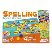 Junior Learning, Spelling Board Games, 4 Games, Ages 5 Years and Older