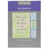 DaySpring, Watercolor Thoughts & Prayers Sympathy Boxed Cards, 12 Cards with Envelopes
