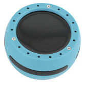 Luminote, Drum Shaker, Turquoise Blue and Black, 2.50 x 1.50 Inches,1 Piece, Grades K-12