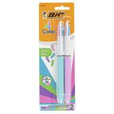 Bic, 4 Color Fashion Ballpoint Pens, Set of 2 Pens