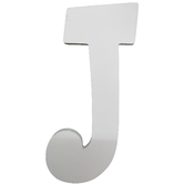 Letter J, White Wood, 9 inches