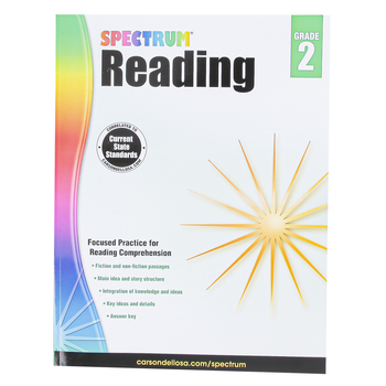 Carson-Dellosa, Spectrum Reading Workbook, Paperback, 174 Pages, Grade 2