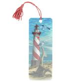 Artgame, Lighthouse 3D Lenticular Art Tassel Bookmark, 2 1/4 x 6 inches
