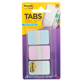 3M, Durable Post-it Tabs, Pastel Blue, Pink, & Clear, 1 x 1 1/2 inches, 36 Tabs