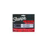 Sharpie, Extreme Fade Resistant Markers, Fine Point, Black, Pack of 2