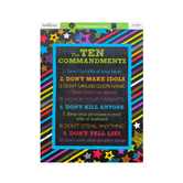 Chalk Talk Collection, Ten Commandments Chart, 17 x 22 Inches, Multi-Colored, 1 Each