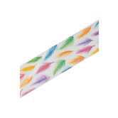 Renewing Minds, Wide Border Trim, 38 Feet, Bright Feathers, Multi-Colored