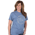Red Letter 9, Psalm 91:4, He Will Cover You Short Sleeved T-Shirt, Indigo Heather