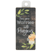 P. Graham Dunn, Turn Your Worries Into Prayers Magnet, 1 3/4 x 3 3/4 inches