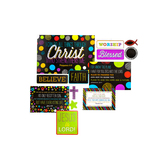 Chalk Talk Collection, Christian Bulletin Board Set, Multi-Colored, 27 Pieces