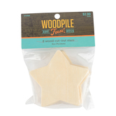 Woodpile Fun, Wood Cut-Out Stars, 3 Inches, 8 Count, Ages 4 and up
