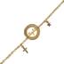 Modern Grace, John 8:12 Light Pendant with Cross and Star Charms Bracelet, Gold