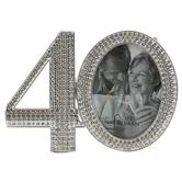 Roman Inc, 40th Anniversary Rhinestone Frame, Rhinestone, for 2 1/2 x 2 1/2 inch photo