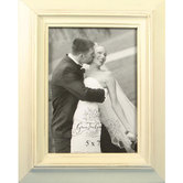 Rustic Picture Frame, 5 x 7 inches, Distressed-White, Wood