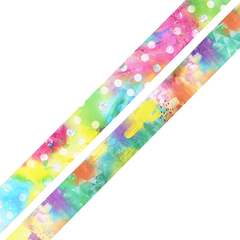 Retro Chic Collection, Watercolor Double-Sided Trimmer, 38 Feet, Geometric Shapes and Polka Dots