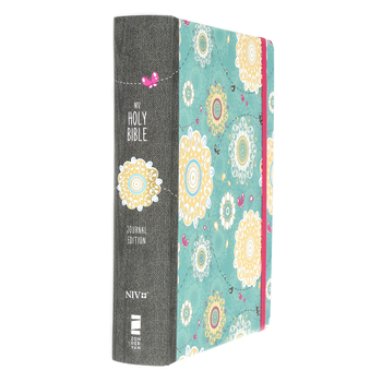 NIV Holy BIble for Girls, Journal Edition, Hardcover, Turquoise with Elastic Closure