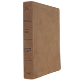 CSB Men of Character Bible, Genuine Leather, Brown, Thumb Indexed