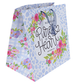 ThreeRoses, Matthew 5:6 Pure Heart Large Gift Bag, 9 1/2 x 14 1/2 x 14 inches