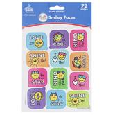 Carson-Dellosa, Smiley Faces Motivational Stickers, Multi-Colored, 72 Stickers
