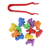 Edx Education, Farm Animal Counters Mini Jar Set 36 Pieces, Multi-Colored, Grades PreK-1