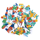 Playside Creations, Alphabet Foam Letters, Classic Colors, 1 x 3/4 Inches, 150 Count