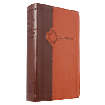 TLB The Living Bible, Duo-Tone, Brown and Tan
