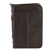 Zondervan, Aviator Bible Cover, Leather-like, Brown, Large