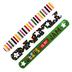 Playside Creations, Christian Slap Bracelets, Assorted Colors, 8 x 1 Inches, 12 Count