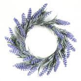 Bella Vita, Artificial Lavender Wreath, Plastic, Lavender and Green, 12 Inches
