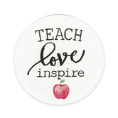 P. Graham Dunn, Teach Love Inspire Magnet, White, 2 3/4 inches