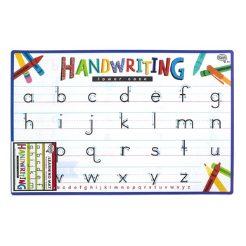 The Brainery, Handwriting Lowercase Learning Mat, Plastic, 11 1/2 x 17 1/2 Inches, Ages 4 and up