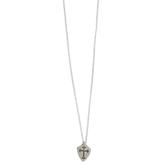 Dicksons, Ephesians 6:11 Shield with Cross Pendant Necklace, Pewter, 24 inches