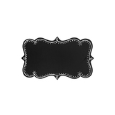 Ornate Chalkboard with Border, Black and White, 17 x 10 inches