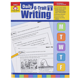 Evan-Moor, Daily 6-Trait Writing Teacher's Edition, Paperback, 160 Pages, Grade 3