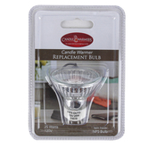 Candle Warmers, Candle Warmer Replacement Bulb, Silver and White, 120 Volt, 25 Watts