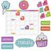 Renewing Minds, Customizable Sweets Calendar Bulletin Board Set, Multi-colored, 109 Pieces