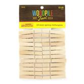 Woodpile Fun, Natural Wood Mini Clothespins, 1 7/8 inches, Set of 24
