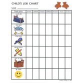 Creative Changes, Child's Job Chart, 8.5 x 11 Inches, Multi-Colored, 1 Piece