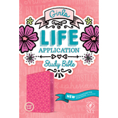 NLT Girls Life Application Stud Bible, Duo-Tone, Pink, Glow in the Dark