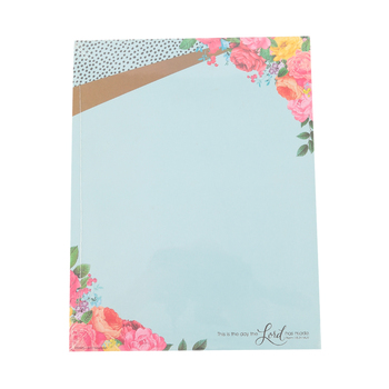 Renewing Minds, This Is The Day The Lord, Letterhead, 8.5 x 11 Inches, Blue with Flowers, 50 Sheets