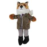 The Puppet Company, Fox Dressed Animal Puppet, Tan & Green, 10 inches
