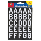 Creative Teaching Press, White Letter Board Letter Stickers, Uppercase, 1 Inch, 133 Stickers