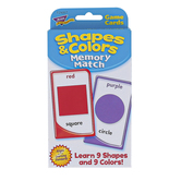 TREND enterprises, Inc., Shapes and Colors Memory Match Challenge Cards®, 56 Cards, 3 1/8 x 5 1/4 inches, Ages 3 and up