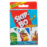 Mattel, Skip Bo Jr. Card Game, Ages 5 Years and Older, 2 to 4 Players