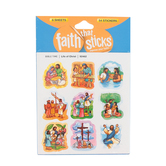 Faith that Sticks, Life of Christ Stickers, 1 x 1.25 Inches, Multi-Colored, Pack of 54