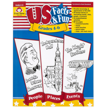 Evan-Moor, U.S. Facts and Fun Teacher Resource, Reproducible, 192 Pages, Grades 4-6