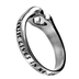 Spirit and Truth, Christ Lives in Me,  Mini Heart Ring, Silver Plated