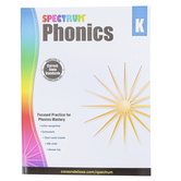Carson-Dellosa, Spectrum Phonics Workbook Grade K, Paperback, 144 Pages, Ages 5-6