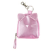 Stephen Joseph, Cat Shimmer Coin Purse, Polyurethane, Pink, 3 1/4 x 3 inches
