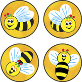 TREND enterprises Inc., Bees Buzz superSpots Stickers, Multi-Colored, Pack of 800